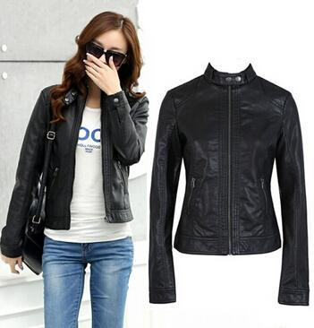 2018 Pimkie Cleaning Single PU Leather Jacket Motorcycle Temale Women - TuneUpTrends.com