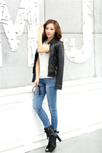 Load image into Gallery viewer, PU Leather Jacket Motorcycle Temale Women - TuneUpTrends.com