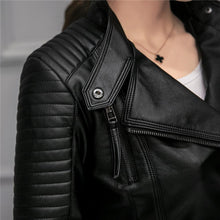 Load image into Gallery viewer, Fitaylor Biker Faux Leather Jacket - TuneUpTrends.com