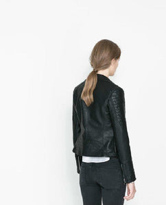 Black Blazer Soft Faux Leather Jackets - TuneUpTrends.com