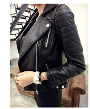 Load image into Gallery viewer, Black Blazer Soft Faux Leather Jackets - TuneUpTrends.com