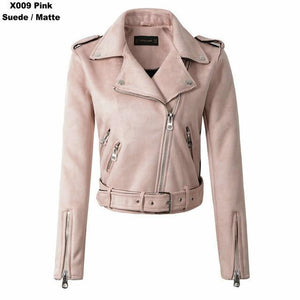 Women Autumn Winter Suede Faux Leather Jackets - TuneUpTrends.com