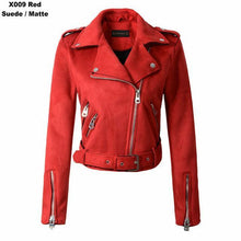 Load image into Gallery viewer, Women Autumn Winter Suede Faux Leather Jackets - TuneUpTrends.com