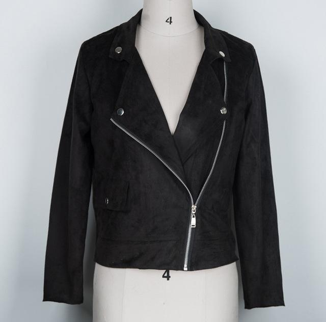 Biker Motorcycle Faux Leather Zipper Jacket - TuneUpTrends.com