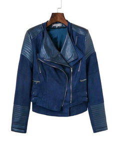 2018 PU + Suede Faux Leather Jackets - TuneUpTrends.com