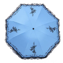 Load image into Gallery viewer, 6 Colors Plum Flower Blossom Parasol lace three folding umbrella - TuneUpTrends.com