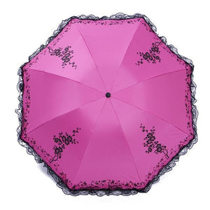6 Colors Parasol lace three folding umbrella - TuneUpTrends.com