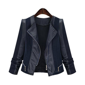 Plus Size Autumn Women Pu Leather Jacket Coat - TuneUpTrends.com