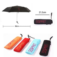 Load image into Gallery viewer, 4 Colors Small Pocket Folding Pencil Parasol Umbrella Ultra-thin - TuneUpTrends.com