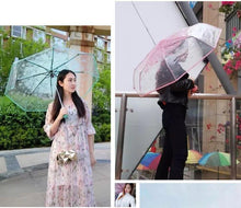 Load image into Gallery viewer, Transparent Full Automatic Umbrella Sun Rain Parasol - TuneUpTrends.com