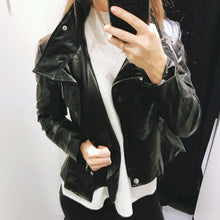 Load image into Gallery viewer, Gothic Faux Leather Coats and Motorcycle Jacket - TuneUpTrends.com