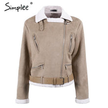 Load image into Gallery viewer, Faux suede jacket winter coat - TuneUpTrends.com