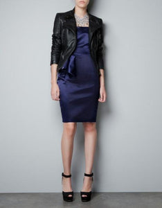Black Blazer Faux Soft Leather Jackets - TuneUpTrends.com