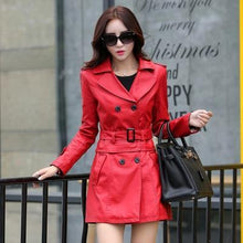 Load image into Gallery viewer, Korean Long Section sheep leather coat - TuneUpTrends.com