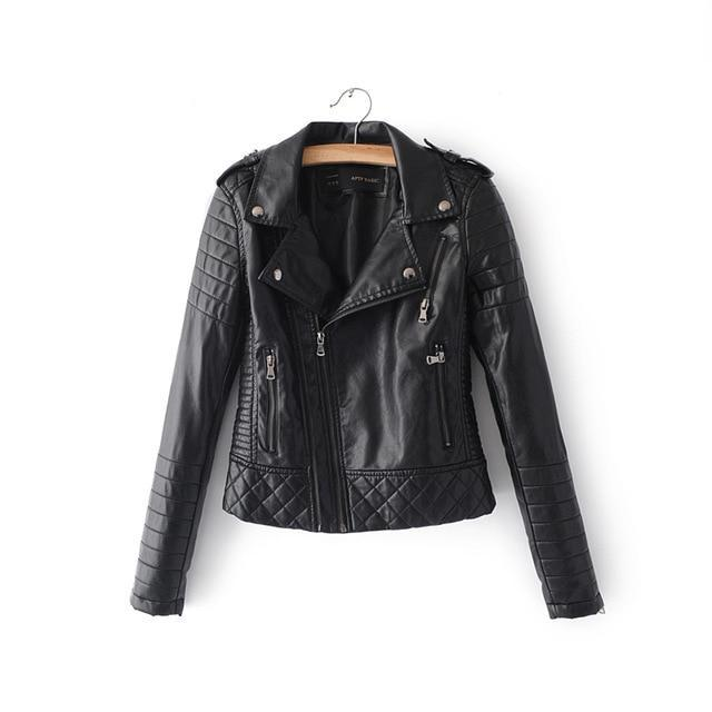 2018 Soft Zipper Faux Leather Jackets - TuneUpTrends.com