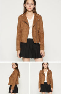Fitaylor Women Suede Faux Leather Jackets - TuneUpTrends.com