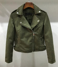 Load image into Gallery viewer, Soft Faux Leather Suede Motorcycle jacket Slim brown - TuneUpTrends.com