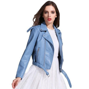 Ly Varey Lin Faux Soft Leather Jacket - TuneUpTrends.com