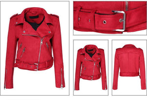 Down Colors Suede Faux Leather Jacket - TuneUpTrends.com