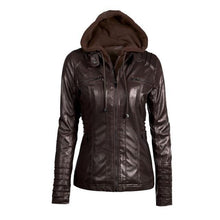 Load image into Gallery viewer, Ftlzz 2018 Women Faux Leather Jacket - TuneUpTrends.com