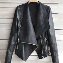 Load image into Gallery viewer, Faux Leather Zipper Jacket Casual Outwear - TuneUpTrends.com