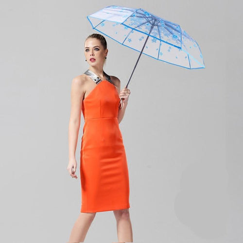 Transparent Full Automatic Umbrella Sun Rain Parasol - TuneUpTrends.com