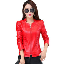 Load image into Gallery viewer, 2018 Casual Long Sleeve Leather Jacket - TuneUpTrends.com