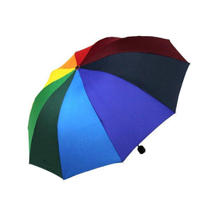 Rainbow outdoor Three-folding Unbrella Parasol - TuneUpTrends.com