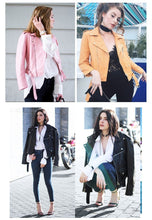 Load image into Gallery viewer, Short Washed PU Leather Jacket - TuneUpTrends.com