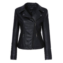 Load image into Gallery viewer, AORRYVLA Women Fashion Black Faux Leather Jacket - TuneUpTrends.com