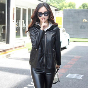 Women's Leather Jacket M-3XL 2018 - TuneUpTrends.com
