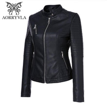 Load image into Gallery viewer, AORRYVLA 2018 New Autumn Women's Leather Jackets - TuneUpTrends.com
