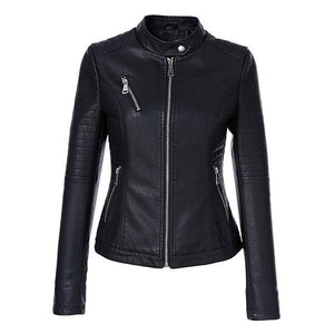 AORRYVLA 2018 New Autumn Women's Leather Jackets - TuneUpTrends.com