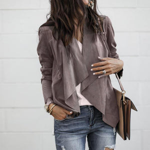 Women Long Sleeve Work Office Coat - TuneUpTrends.com