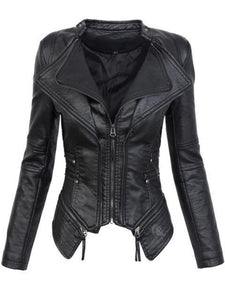 Gothic Faux Leather PU Jacket - TuneUpTrends.com