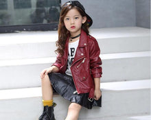 Load image into Gallery viewer, Children's Faux Leather jacket - TuneUpTrends.com