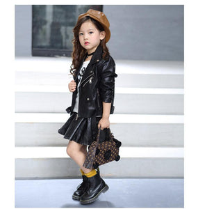 Children's Faux Leather jacket - TuneUpTrends.com