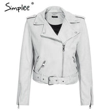Load image into Gallery viewer, Simplee Leather Suede Faux Leather Jacket - TuneUpTrends.com