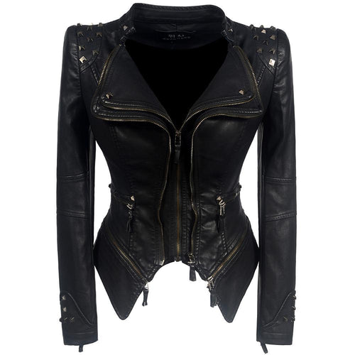 2018 Coat HOT Black Fashion Motorcycle Jacket - TuneUpTrends.com