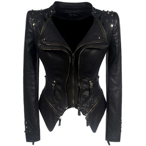 2018 Coat HOT Women Winter Autumn Black Fashion Motorcycle Jacket - TuneUpTrends.com