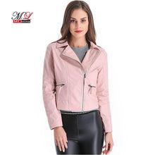 Load image into Gallery viewer, Faux Soft Basic Moto Leather Jackets - TuneUpTrends.com