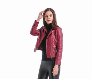 Faux Soft Basic Moto Leather Jackets - TuneUpTrends.com