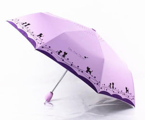 Windproof Cute Cat Automatic Umbrella Parasol Lady - TuneUpTrends.com