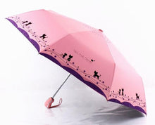 Load image into Gallery viewer, Windproof Cute Cat Automatic Umbrella Parasol Lady - TuneUpTrends.com