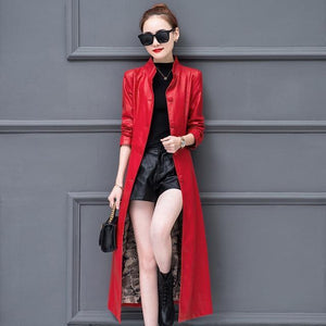 Women Velvet faux leather coat 2018 - TuneUpTrends.com