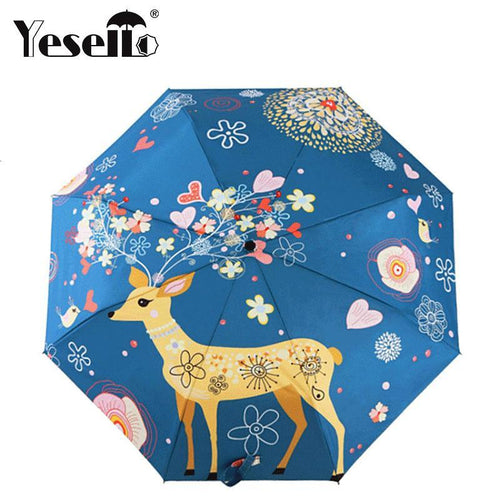 Elk Original Oil Painting Design Parasol Gift For Kids - TuneUpTrends.com