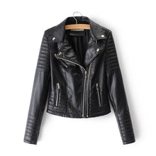 Load image into Gallery viewer, Smooth Motorcycle Faux Leather Jackets - TuneUpTrends.com