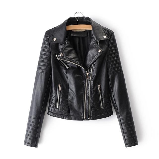 Smooth Motorcycle Faux Leather Jackets - TuneUpTrends.com