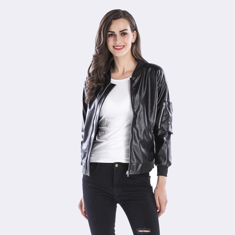Casual Slim Punk Faux Leather Jacket Long Sleeve - TuneUpTrends.com