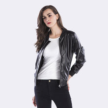 Load image into Gallery viewer, Casual Slim Punk Faux Leather Jacket Long Sleeve - TuneUpTrends.com